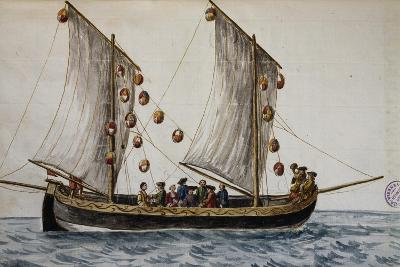 Venetian Fishing Boat Decorated with Lights for Return of Redeemer--Giclee Print