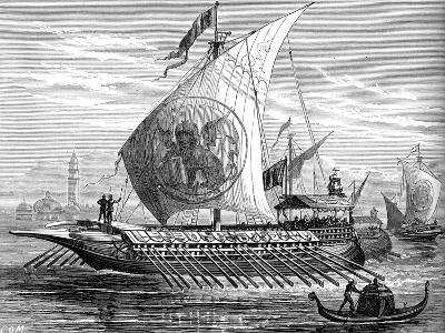 Venetian Galley--Giclee Print