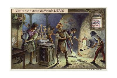Venetian Glass Blowers, 14th Century--Giclee Print