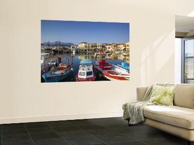 Venetian Harbour, Rethymno, Crete, Greece-Walter Bibikow-Wall Mural