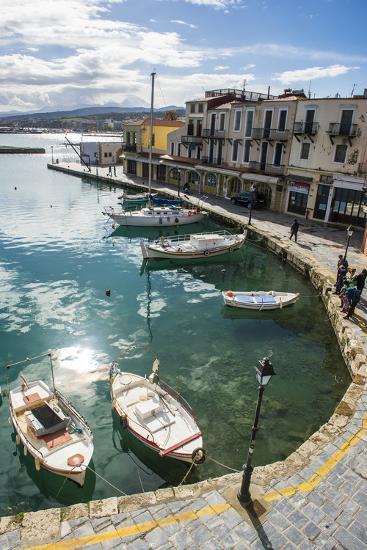 Venetian Harbour, Rethymno, Crete, Greek Islands, Greece, Europe-Michael Runkel-Photographic Print