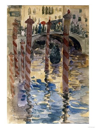Venetian Scene-Jean-Baptiste-Camille Corot-Giclee Print