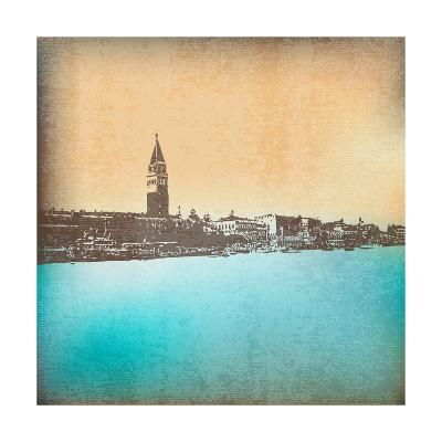 Venetian Vintage Background-Petrafler-Art Print