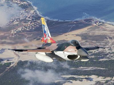 Venezuelan Air Force F-16A Flying over Natal, Brazil-Stocktrek Images-Photographic Print