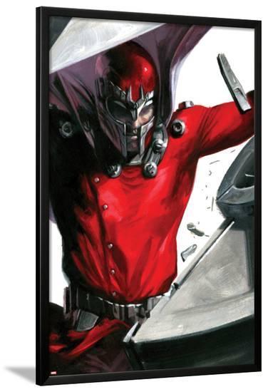 Vengeance No.1 Cover: Magneto Smashing-Gabriele DellOtto-Lamina Framed Poster