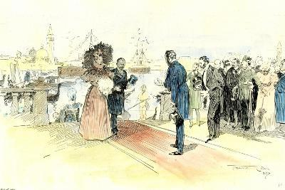 Venice 1897. Opening of the Venice International Art Exhibition. Arrival of the Prince and Princess--Giclee Print