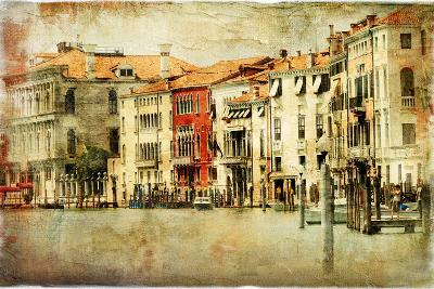 Venice, Artwork In Painting Style-Maugli-l-Art Print