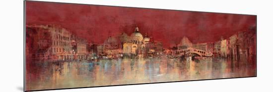 Venice at Night-Kemp-Mounted Premium Giclee Print
