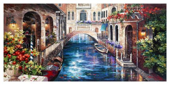 Venice Bridge-Alma Lee-Art Print