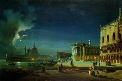 Venice by Moonlight-Ippolito Caffi-Giclee Print