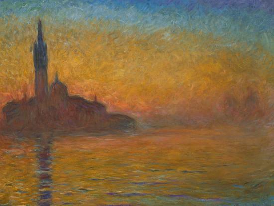 Venice by Twilight, 1908-Claude Monet-Premium Giclee Print