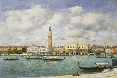 Venice, Campanile, St Mark's View of the Canal from San Giorgio; Venise, Le Campanile, Vue Du…-Eug?ne Boudin-Giclee Print