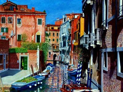 Venice Canal, Dorsoduro, August 2016-Anthony Butera-Giclee Print