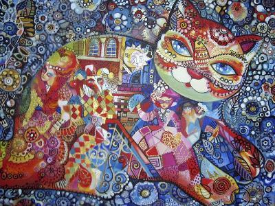Venice Cat-Oxana Zaika-Giclee Print