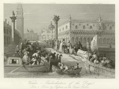 Venice - Embarkation of the Doge--Giclee Print