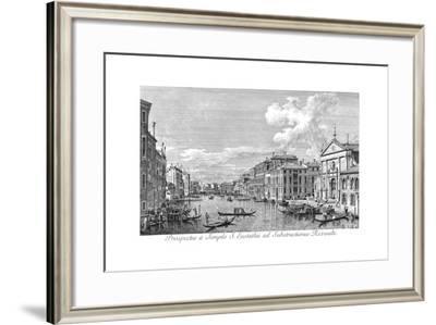 Venice: Grand Canal, 1735-Antonio Visentini-Framed Giclee Print
