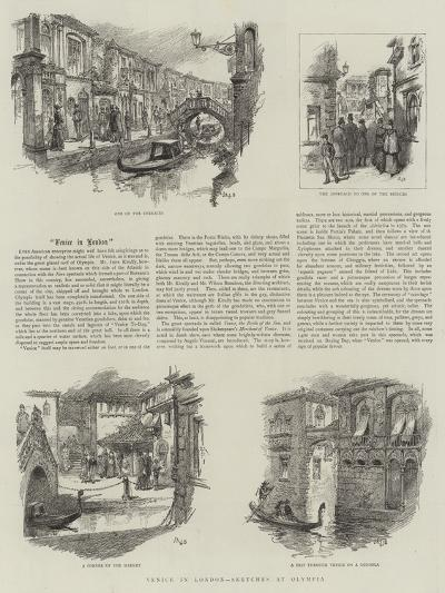 Venice in London, Sketches in Olympia--Giclee Print