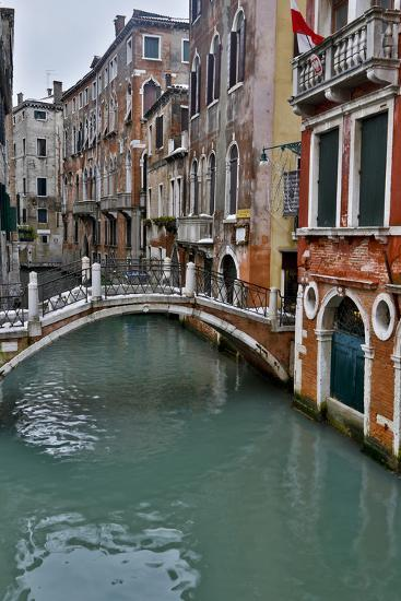 Venice, Italy. Canal with Arched Bridge-Darrell Gulin-Photographic Print