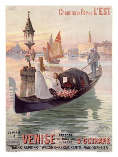 Venice, Italy, Gondola-Hugo D'Alesi-Giclee Print