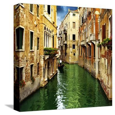 Venice Italy Grand Canal--Stretched Canvas Print