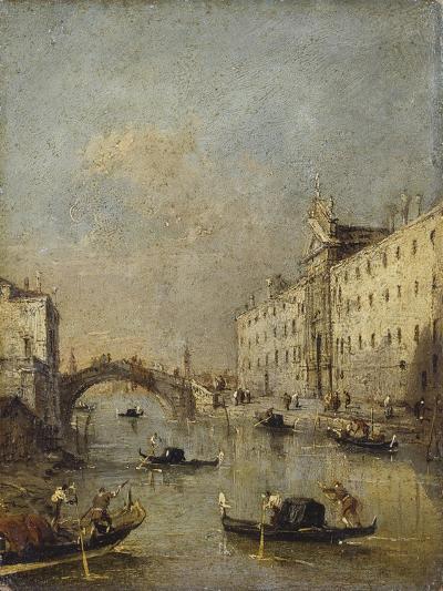 Venice or Rio Dei Mendicanti with Gondolas, 1780-99-Francesco Guardi-Art Print