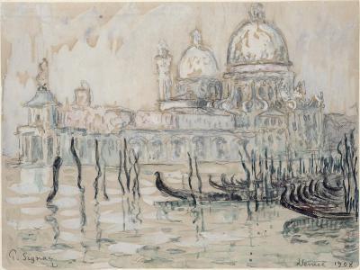 Venice Or, the Gondolas, 1908 (Black Chalk and W/C on Paper)-Paul Signac-Giclee Print