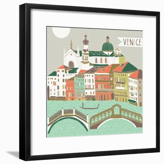Venice Print Design-Lavandaart-Framed Premium Giclee Print