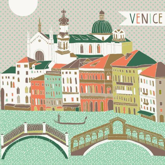Venice Print Design-Lavandaart-Art Print