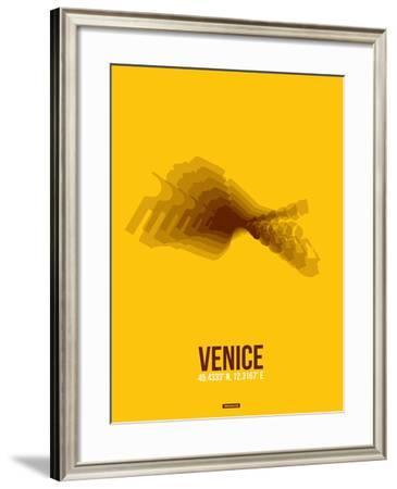 Venice Radiant Map 4-NaxArt-Framed Art Print