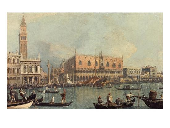 Venice, Showing Doge's Palace and Saint Mark's Square, Italy-Canaletto-Giclee Print
