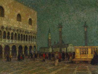 Venice, St. Mark's Square; Venise, La Place St. Marc-Henri Eugene Augustin Le Sidaner-Giclee Print