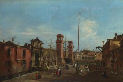 Venice, the Arsenal, 1755-1760-Francesco Guardi-Giclee Print