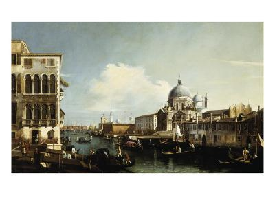 Venice, the Grand Canal: the Salute and Dogana from the Campo Sta Maria Zobenigo-Canaletto-Giclee Print