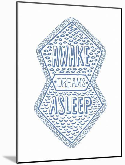 Venn by Pen: Awake, Asleep, Dreams Poster-Satchel & Sage-Mounted Art Print