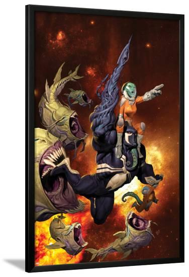 Venom: Spaceknight #1 Cover Featuring Venom-Ariel Olivetti-Lamina Framed Poster