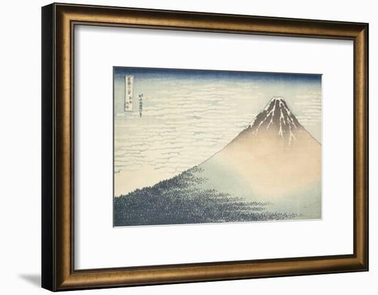 Vent frais par matin clair ou Le Fuji rouge-Katsushika Hokusai-Framed Premium Giclee Print