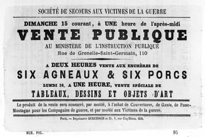 Vente Publique, from French Political Posters of the Paris Commune, May 1871--Giclee Print