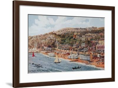 Ventnor from the Pier, Isle of Wight-Alfred Robert Quinton-Framed Giclee Print