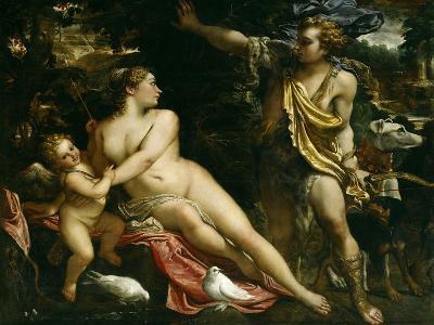 Venus, Adonis and Cupid, Ca. 1590-Annibale Carracci-Giclee Print