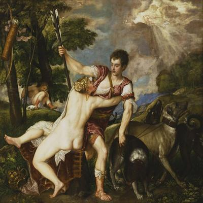 Venus and Adonis, 1554-Titian (Tiziano Vecelli)-Giclee Print