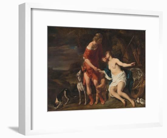Venus and Adonis, 1657-60-Ferdinand Bol-Framed Giclee Print
