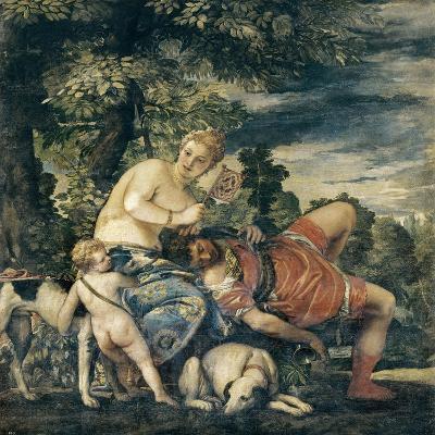 Venus and Adonis-Paolo Veronese-Art Print