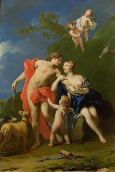 Venus and Adonis-Jacopo Amigoni-Giclee Print