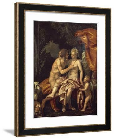 Venus and Adonis-Paolo Veronese-Framed Giclee Print