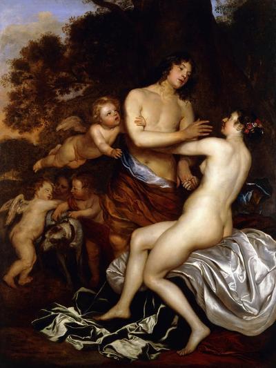 Venus and Adonis-Jan Mytens-Giclee Print