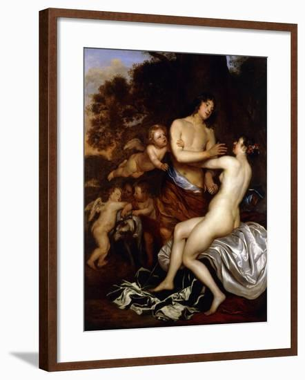 Venus and Adonis-Jan Mytens-Framed Giclee Print