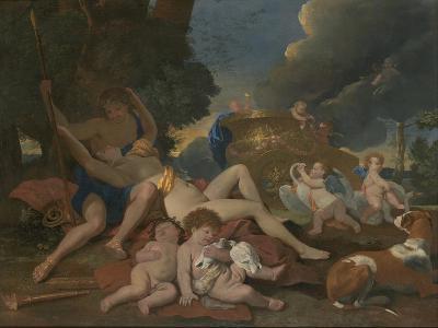 Venus and Adonis-Nicolas Poussin-Giclee Print