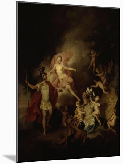 Venus and Aeneas-Christian W.e. Dietrich-Mounted Premium Giclee Print