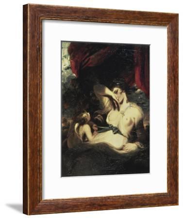 Venus and Amor-Sir Joshua Reynolds-Framed Giclee Print