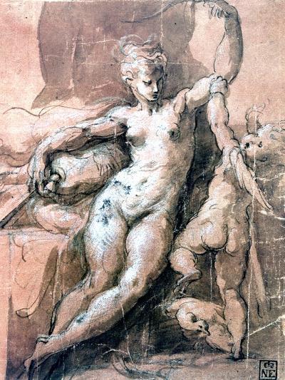 Venus and Child, C1513-1540-Parmigianino-Giclee Print